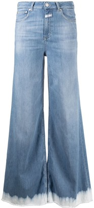 Closed High-Waisted Flared Leg Jeans