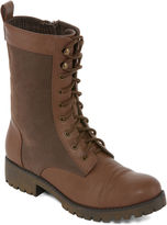 Groove Silver Womens Combat Boots