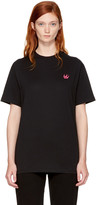 McQ by Alexander McQueen Black Swallow Badge Classic T-shirt