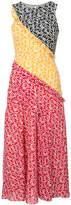 Saloni sleeveless panelled dress