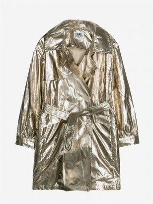 Karl Lagerfeld Paris Laminated Jacket