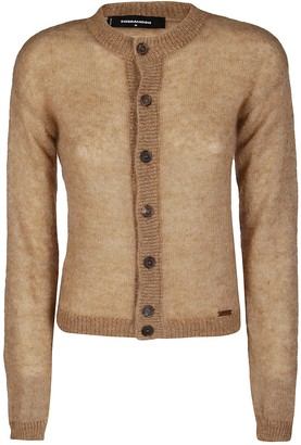 DSQUARED2 Brown Merino Wool Blend Cardigan