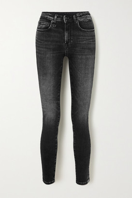 R 13 Alison Cropped High-rise Skinny Jeans - Black