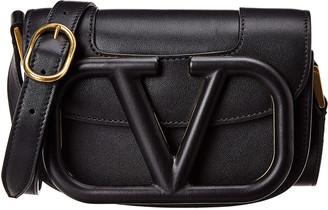 Valentino Supervee Small Leather Shoulder Bag