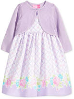 Good Lad 2-Pc. Cotton Cardigan and Dress Set, Little Girls