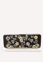 Bebe Jewel Flower Clutch