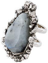 Alexander McQueen Stone double tiered ring