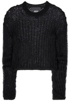 Haider Ackermann Open-knit Cotton And Wool Sweater
