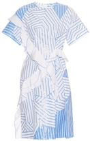 Jil Sander Arabesque striped cotton dress