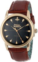 Vivienne Westwood Men's VV064BKBR Grosvenor Brown Strap Watch