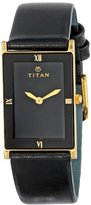 """Titan Unisex 291YL03 """"Classique"""" Watch with Black Leather Band"""