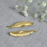 Nell Little Gold Feather Hair Grips