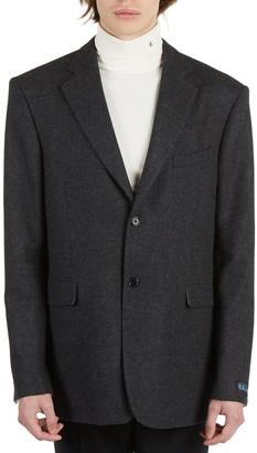Raf Simons Straight Fit Wool Blazer