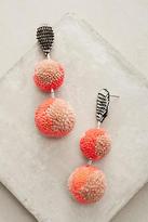 Mignonne Gavigan Orange Pom Drop Earrings