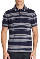 Saks Fifth Avenue Interlock Striped Polo Shirt