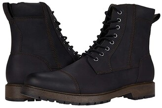 Dockers Stratton (Black Distressed Synthetic) Men's Shoes