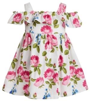 Blueberi Boulevard Baby Girls Roses Off-The-Shoulder Dress