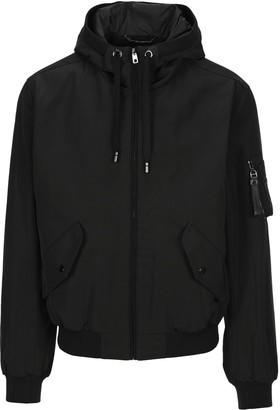 Dolce & Gabbana Dolce & Gabana Motif Printed Hooded Bomber Jacket
