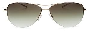 Oliver Peoples Men's Strummer Brow Bar Aviator Sunglasses, 63mm