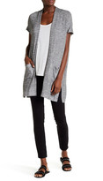 Chaus Metallic Short Sleeve Cardigan