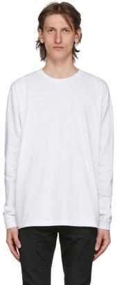 John Elliott White University Long Sleeve T-Shirt