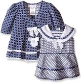 Bonnie Baby Baby Check Jacquard Sailor Dress and Coat Set