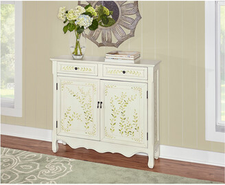 Powell Mills White Hand Painted 2-Door Console