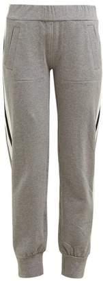 Norma Kamali Side-striped Stretch-cotton Track Pants - Womens - Grey