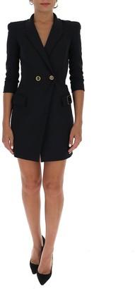 Elisabetta Franchi Logo Embroidered Blazer Dress