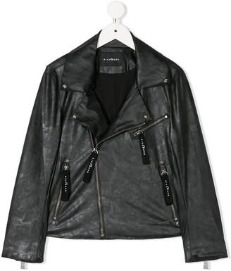 John Richmond Junior Faux-Leather Biker Jacket