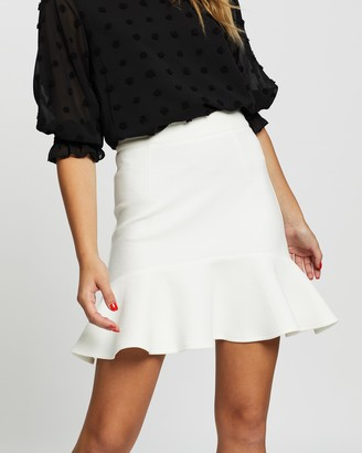 Atmos & Here Atmos&Here - Women's White Mini skirts - Jacinta Flared Skirt - Size 6 at The Iconic