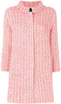 Marc Cain two-tone knitted coat