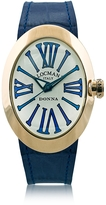 Locman Change Gold Plated Stainless Steel Oval Case Women's Watch w/3 Leather Straps