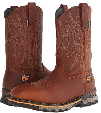 Timberland AG Boss Pull-On Alloy Square Toe (Red Brown) Men's Work Pull-on Boots