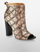Calvin Klein Jules Leather Foil Bootie