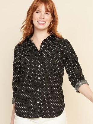 Old Navy Polka-Dot Poplin Classic Shirt for Women