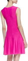 Torn By Ronny Kobo Yana Scalloped Faille Dress, Pink