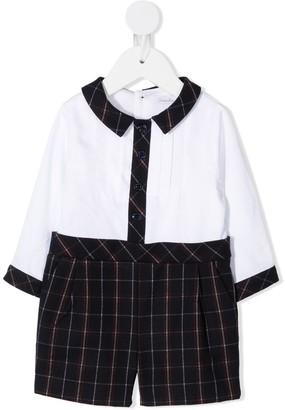 Patachou Long-Sleeved Check Print Shirt