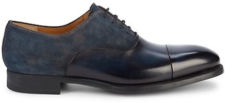 Magnanni Leather Suede Oxfords