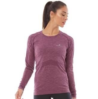Ronhill Ron Hill Womens Infinity Marathon Long Sleeve Running Top Aubergine/Blossom