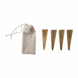 Creative Co-op Brass Stainless Steel (Set of 4) Food Markers