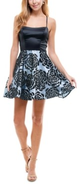 City Studios Juniors' Strappy-Back Fit & Flare Dress