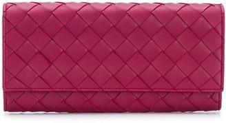 Bottega Veneta Intrecciato foldover wallet