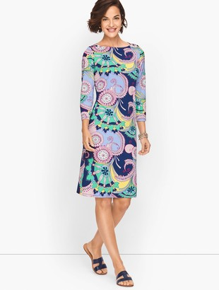 Talbots Jersey Shift Dress - Spiral Paisley