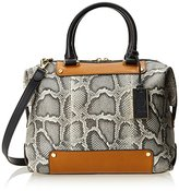 Vince Camuto Jill Satchel Python Top Handle Bag