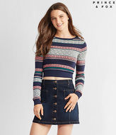 Aeropostale Womens Prince & Fox Patterned Bodycon Pullover Sweater