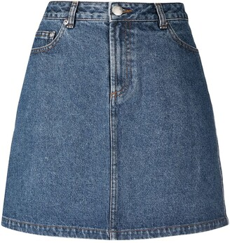 A.P.C. A-line cotton denim skirt