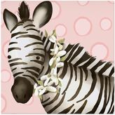Oopsy Daisy Fine Art For Kids Zoey the Zebra Canvas Wall Art