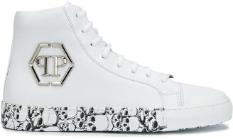 Philipp Plein Skull-Print High-Top Sneakers
