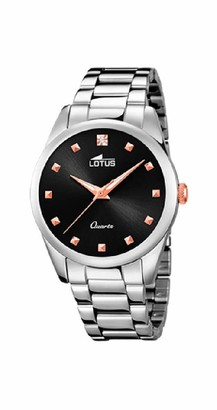 Lotus Women's Analogue Analog Quartz Watch with Stainless Steel Strap 18142/4